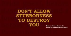 stubbornes